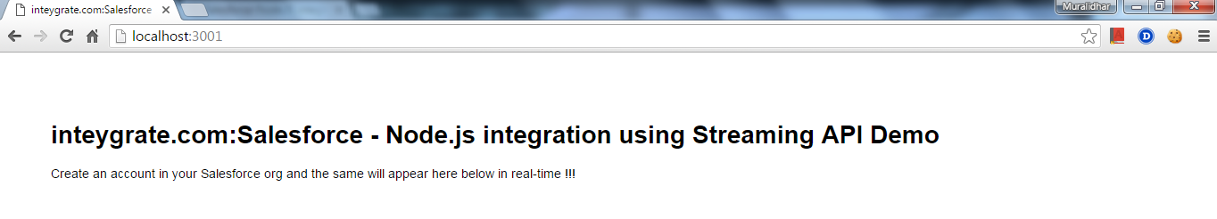 Salesforce-Node JS integration with Streaming API